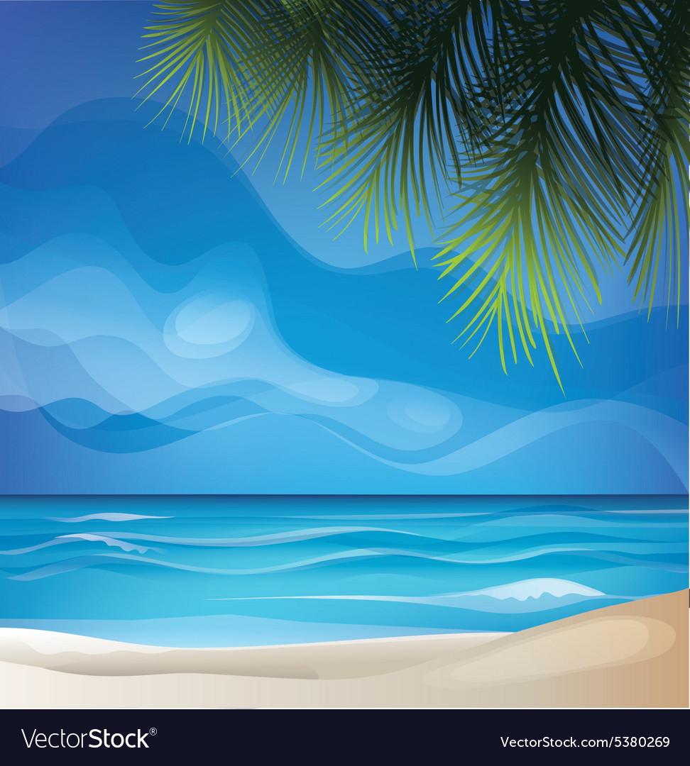 Tropic exotic island beach landscape vector image