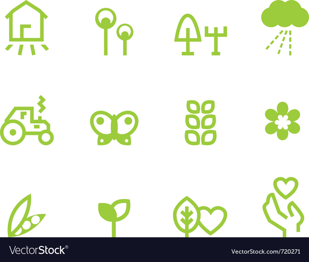 Agriculture farming icons vector image