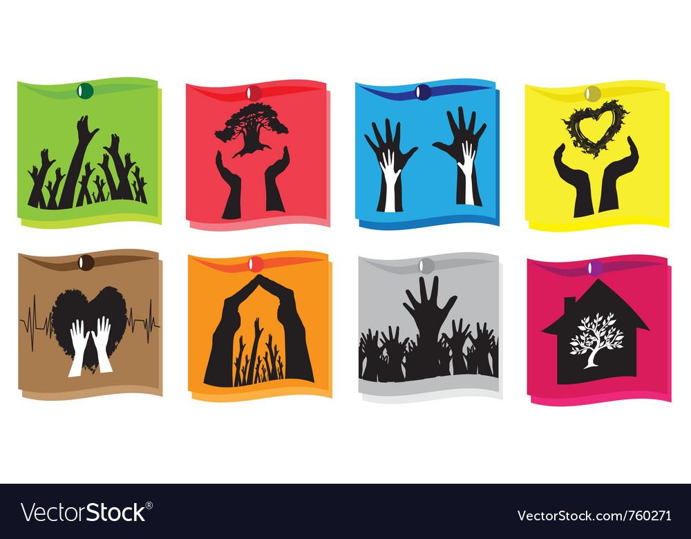 Set of protection concepts vector image