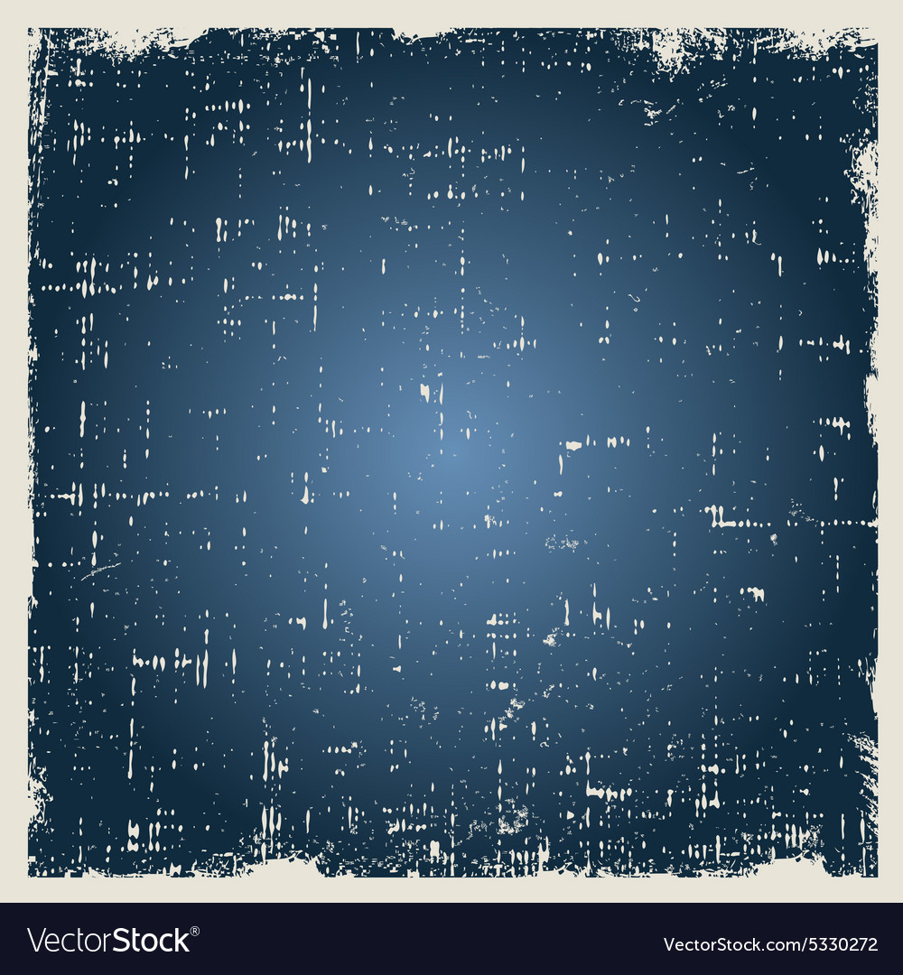 Grunge blue background texture with dust vector image