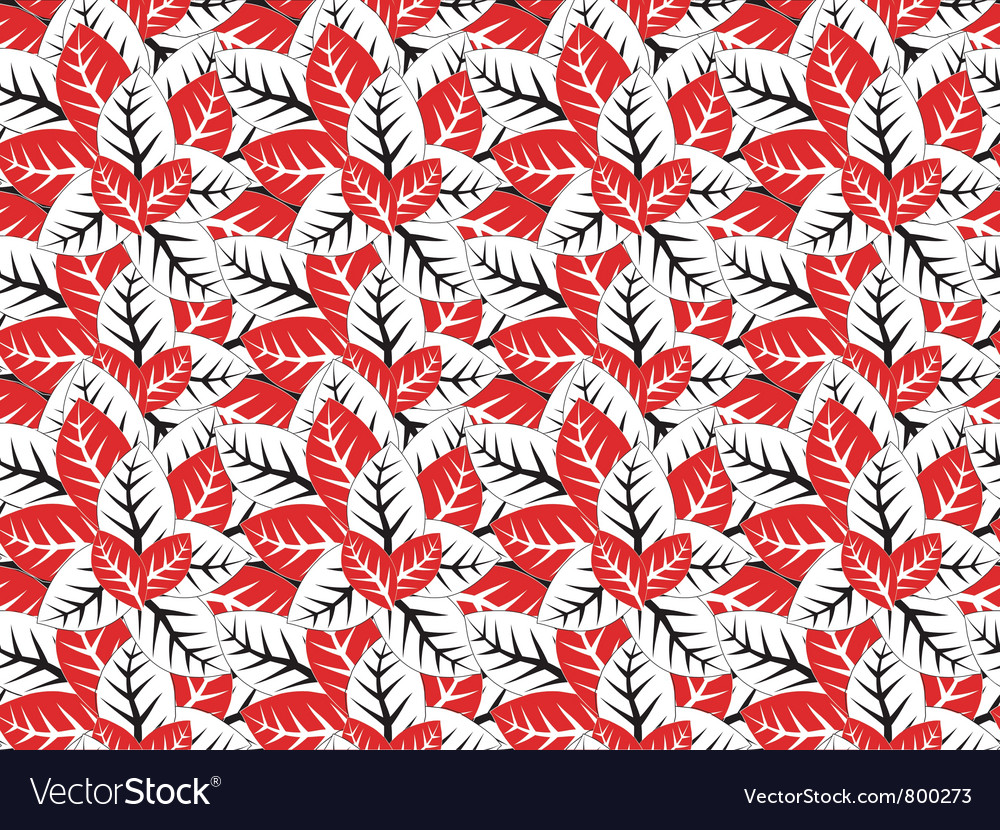 Seamless abstract leaves texture vector image