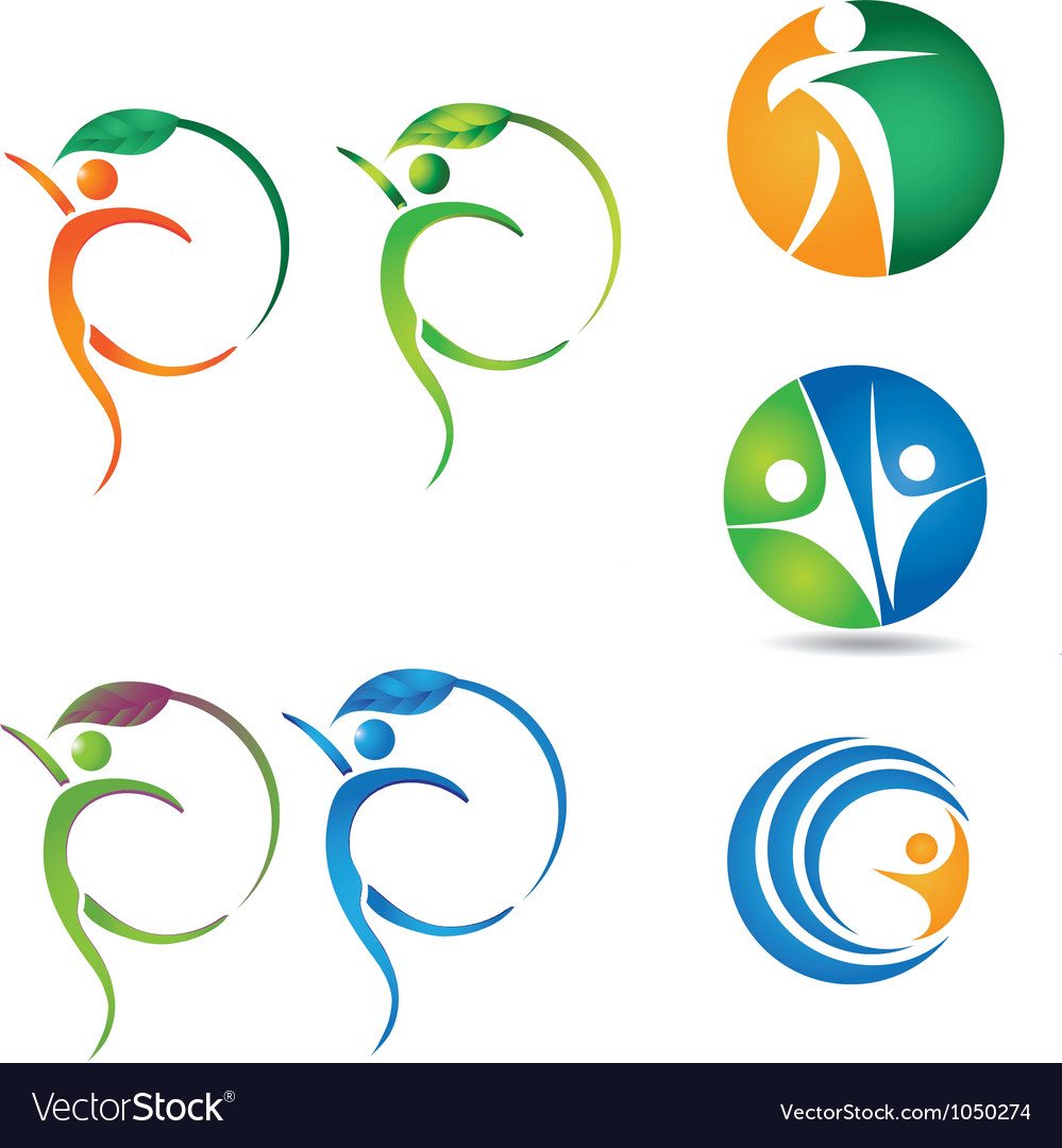 Healthy-silhouettes Vector Image