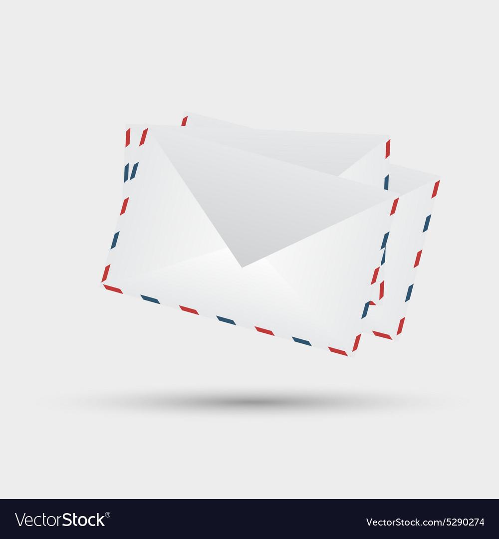 Envelopes on white background vector image