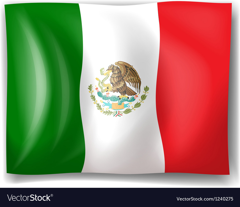 The flag of Mexico vector image