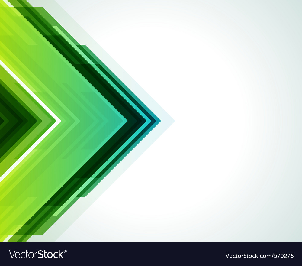 Modern arrow background vector image