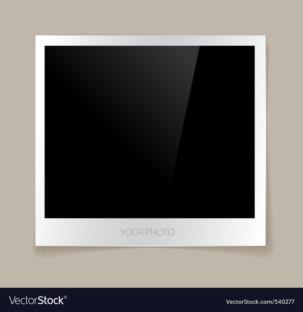 Empty photo vector image