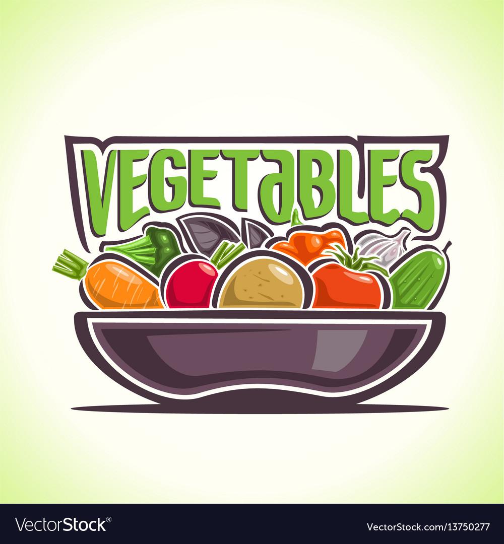 Dish vegetables still life vector image
