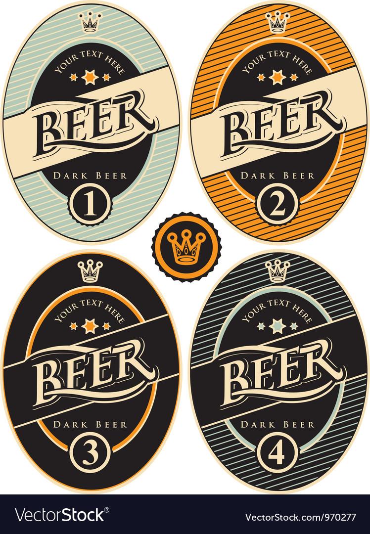 Label of beer vector image