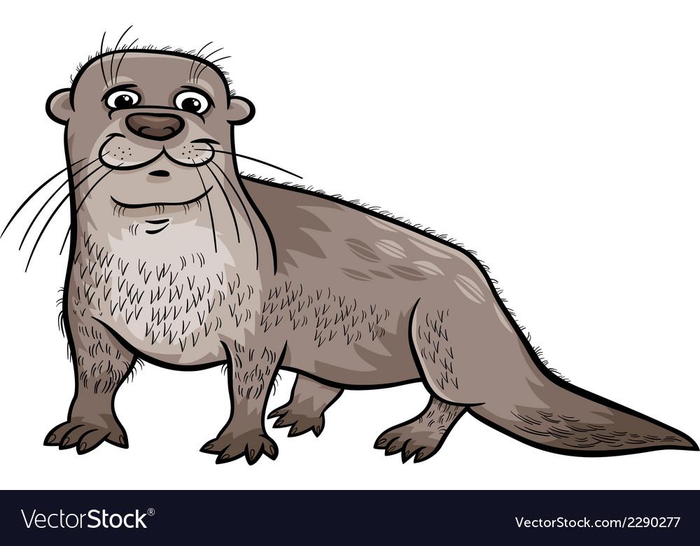 Otter animal cartoon vector image