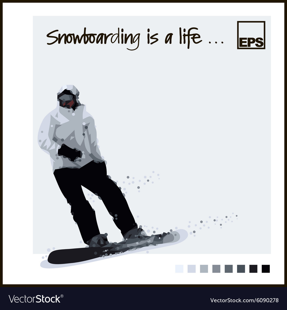 Skiing Extreme Snowboard vector image