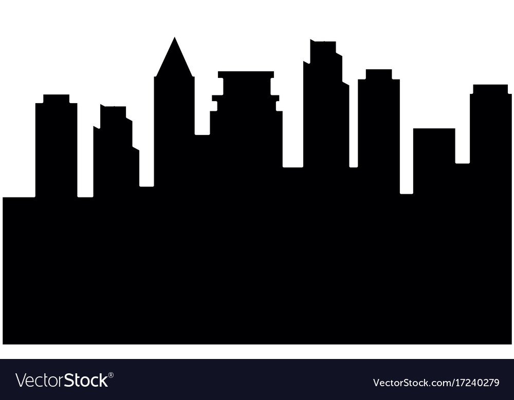 cityscape silhouette isolated icon royalty free vector image rh vectorstock com free vector cityscape cityscape vector image