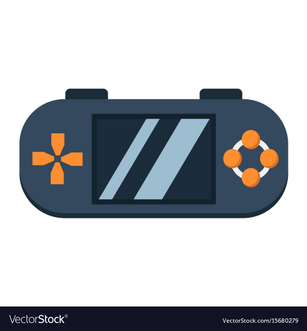 Handheld game console flat icon controller vector image