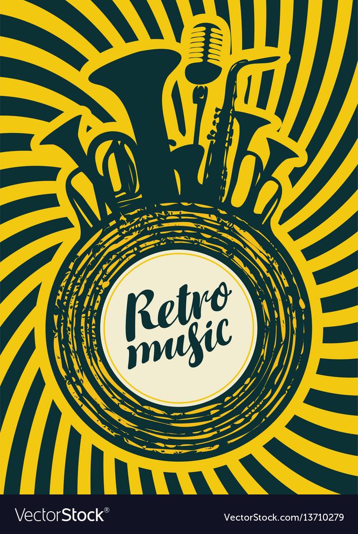 Poster for the retro festival vector image