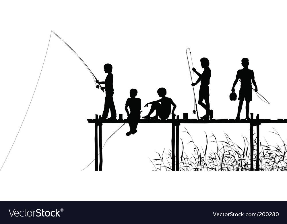 Fishing jetty vector image