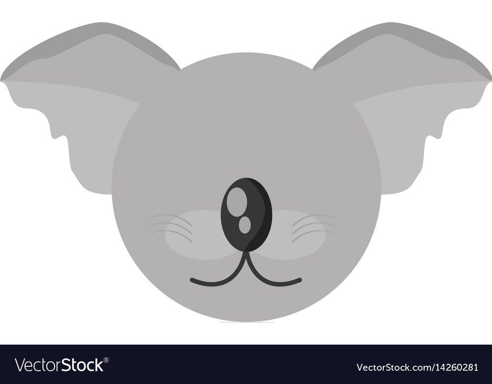 Head cute koala animal image vector image