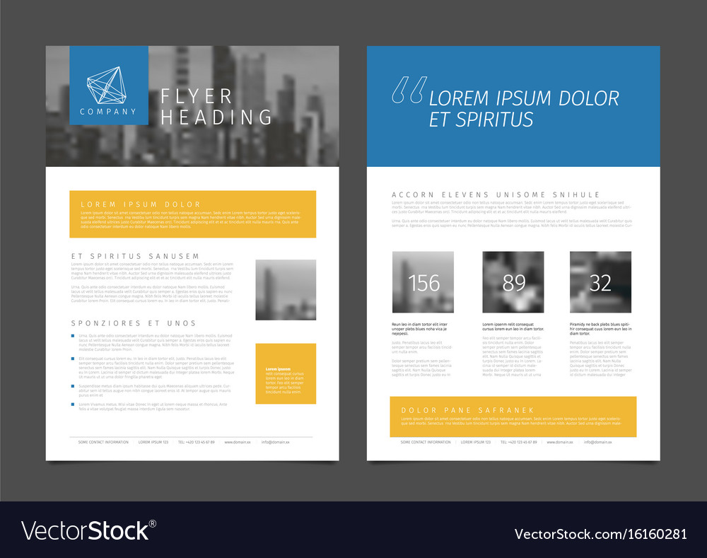 Modern Brochure Template Flyer Design Template Vector Image - Modern brochure template