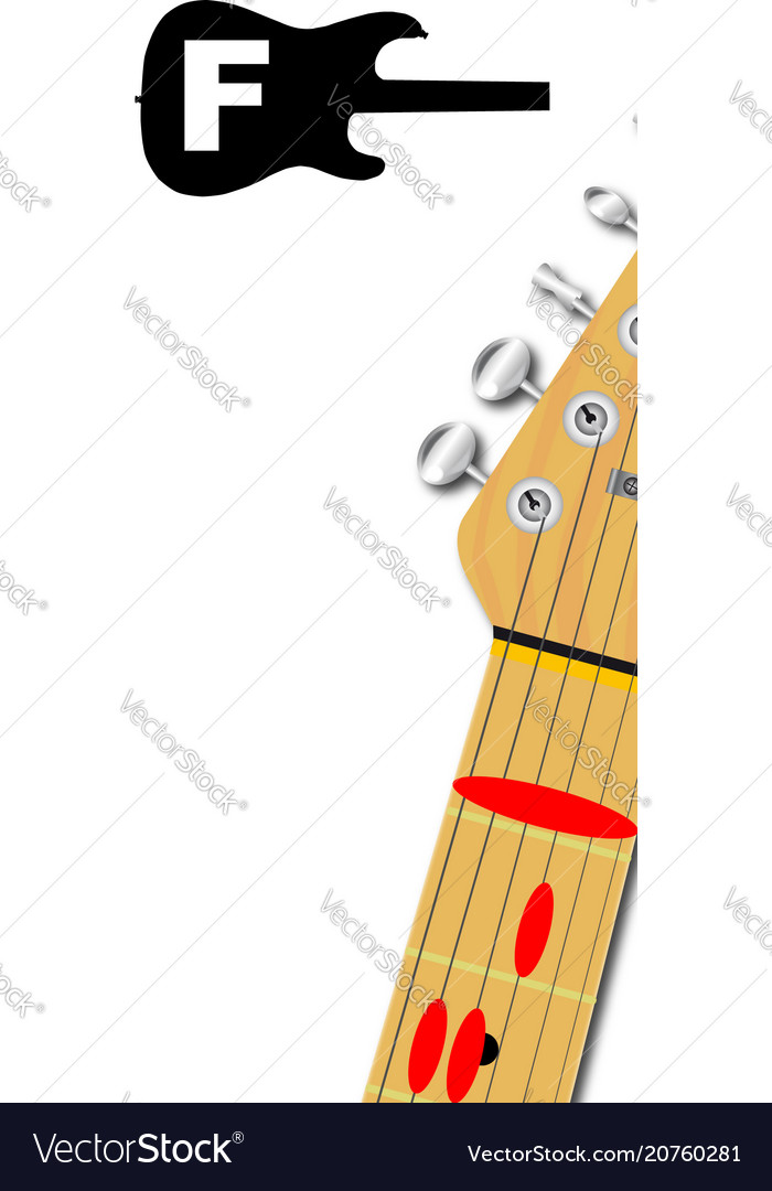 The Guitar Chord Of F Major Royalty Free Vector Image