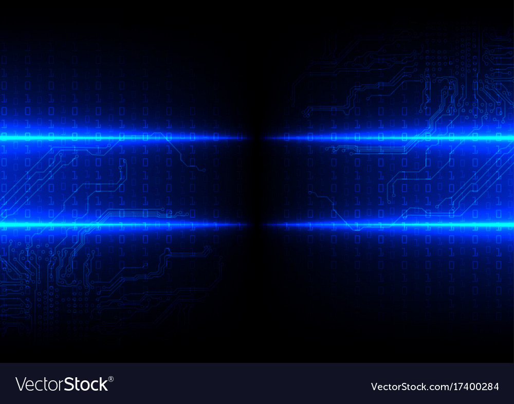 Abstract future digital technology concept vector image