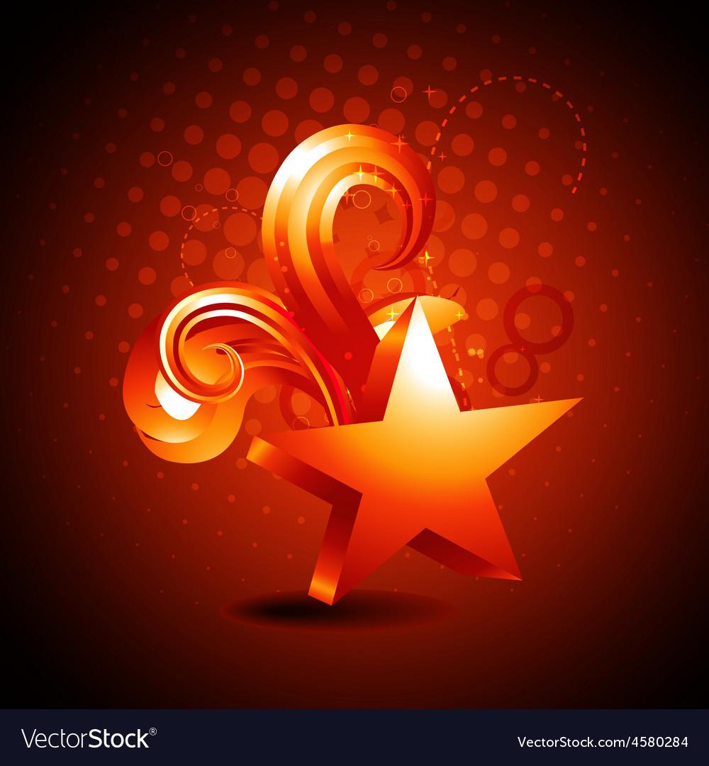 Star golden shape background vector image