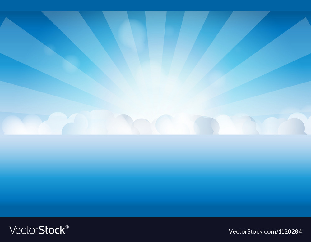 Sunset sky water vector image