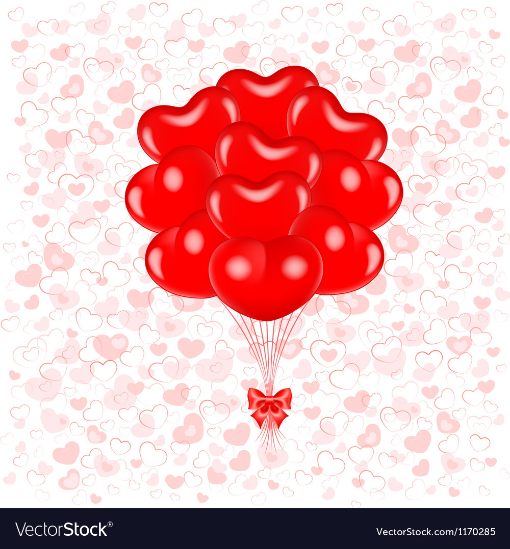 Red balloons vector image