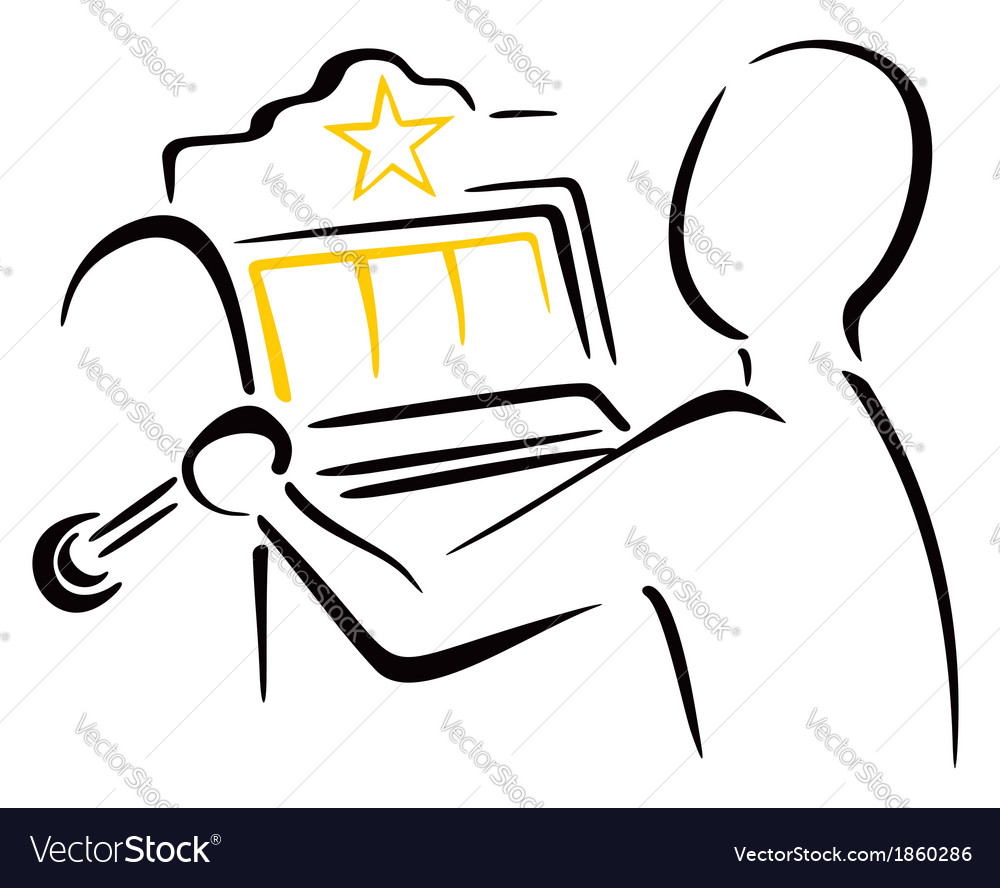 Playing the slots Vector Image