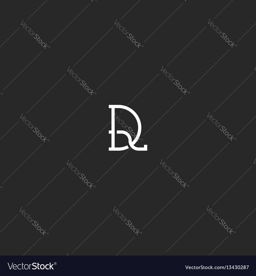 Hipster logo dr initials monogram mark black and vector image