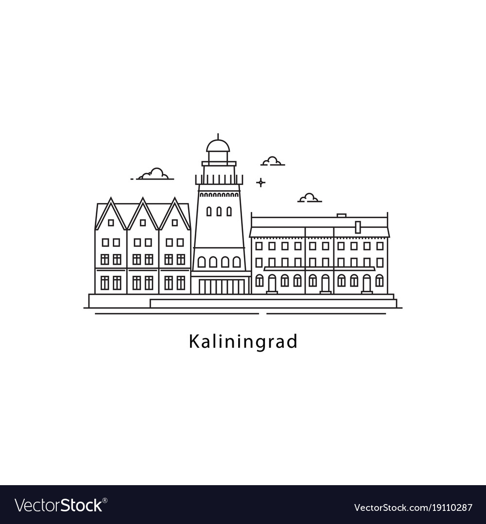 Kaliningrad logo isolated on white background vector image