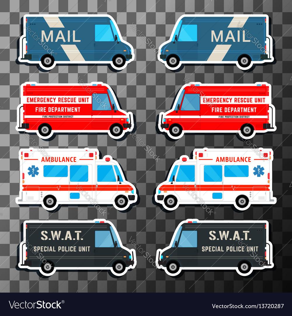 Various city urban traffic vehicles vector image
