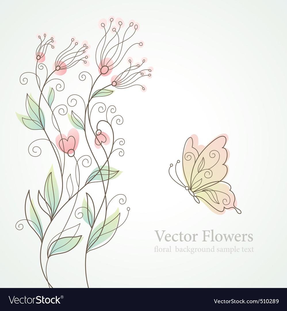 Romantic floral illustration vector image