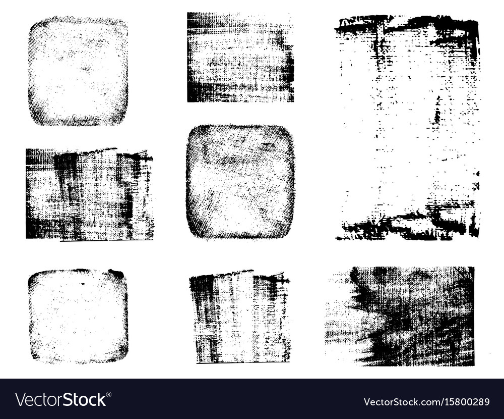 Grunge post stamps collection banners logos vector image