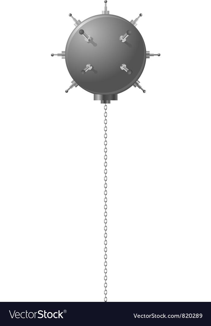 Naval mine vector image