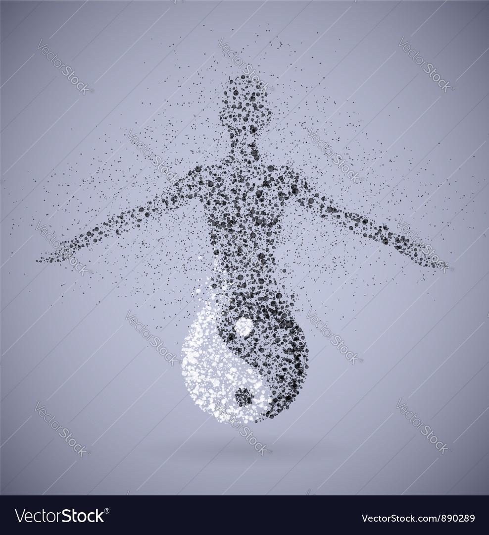 Yin feminine vector image