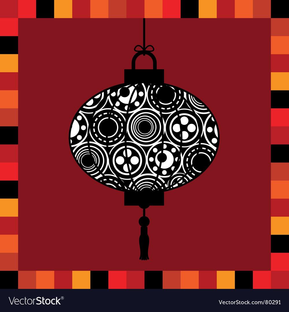 Lantern greeting card vector image