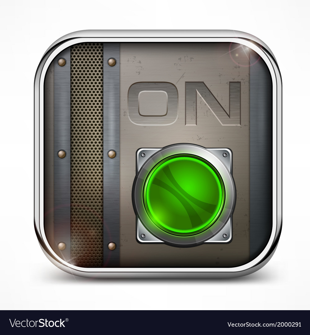 On switch button vector image