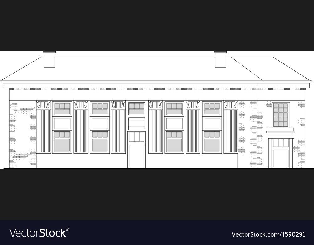 Shopping center building front vector image