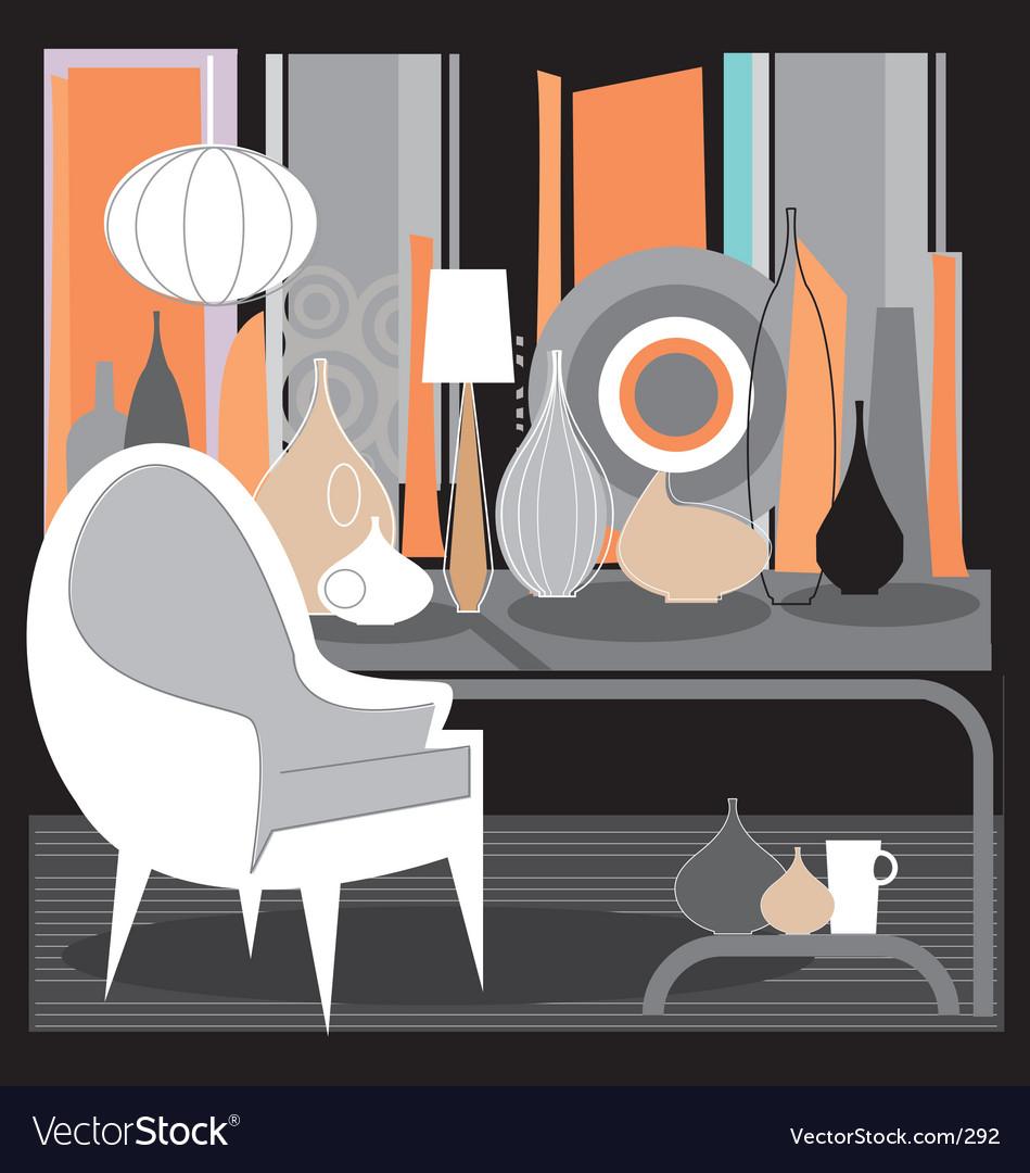 Retro interior Vector Image