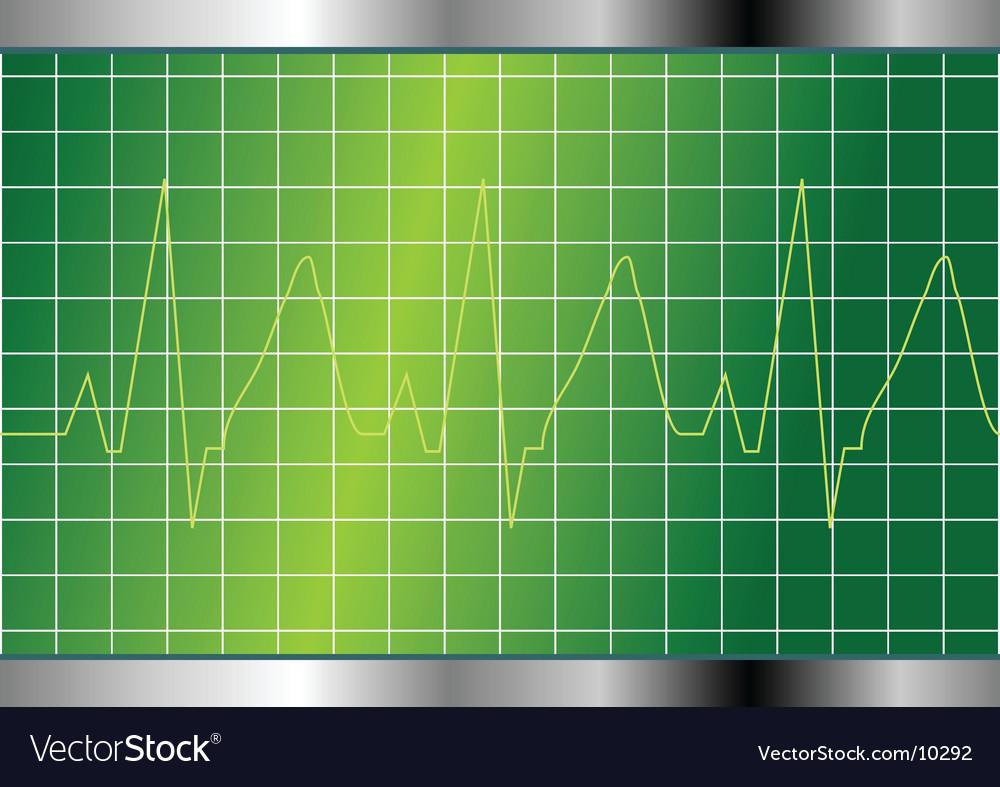 Cardio beat vector image