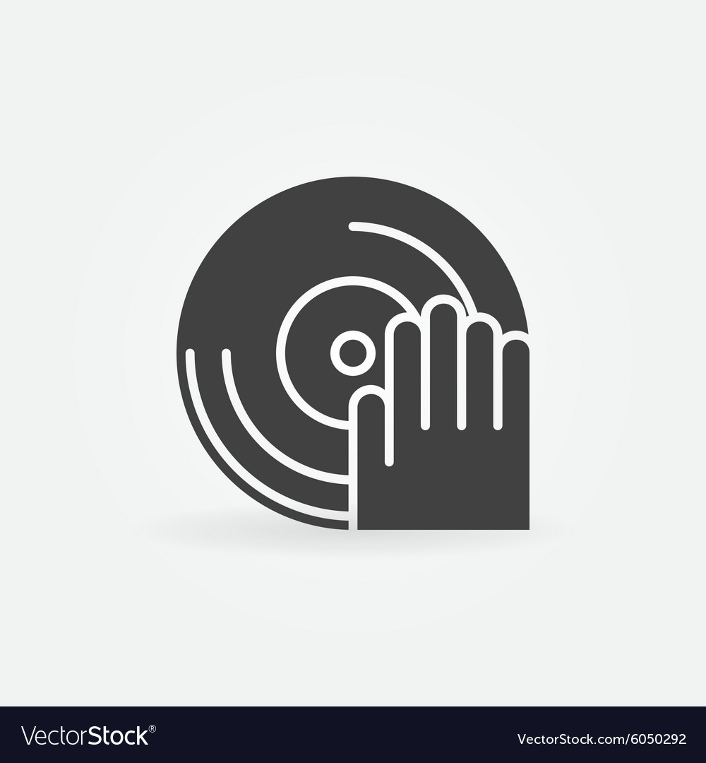 DJ icon or logo vector image