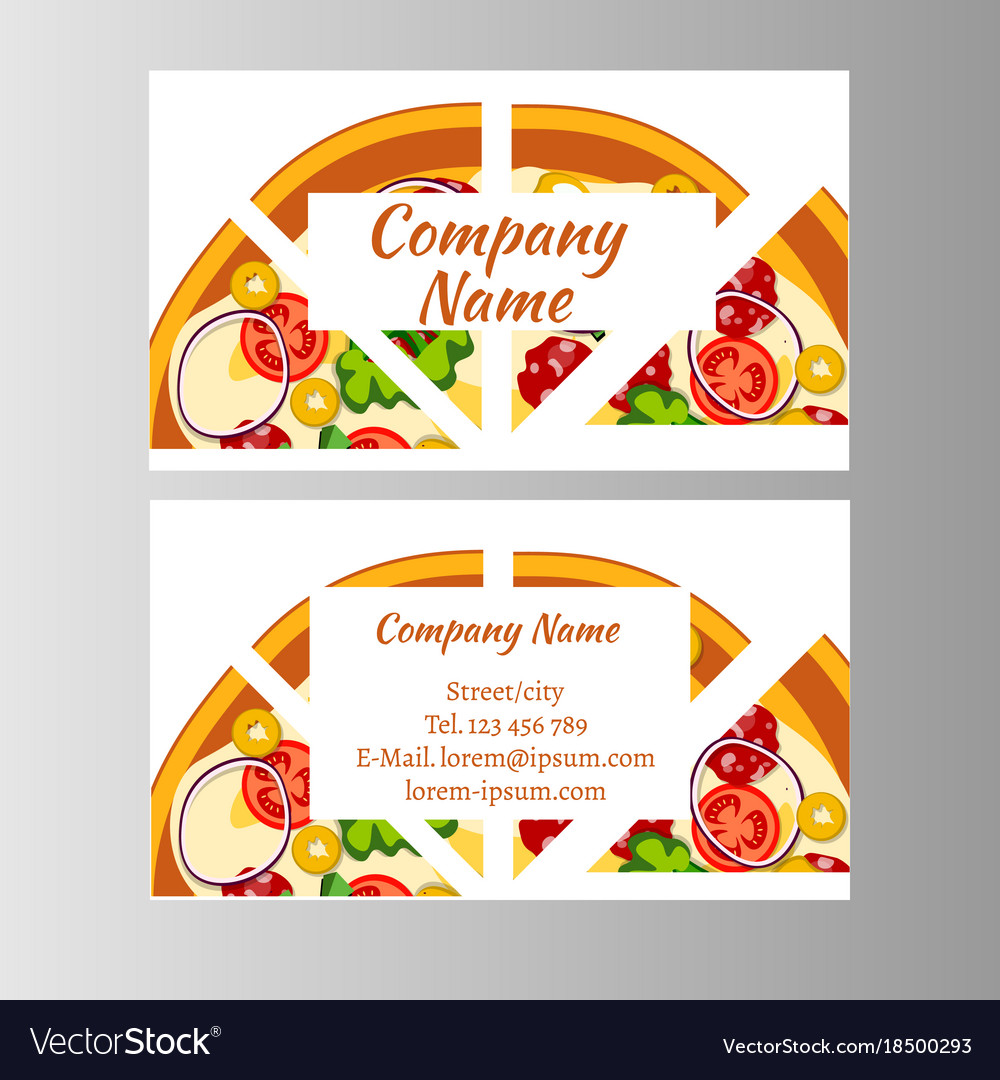 Two business card template for pizza delivery Vector Image
