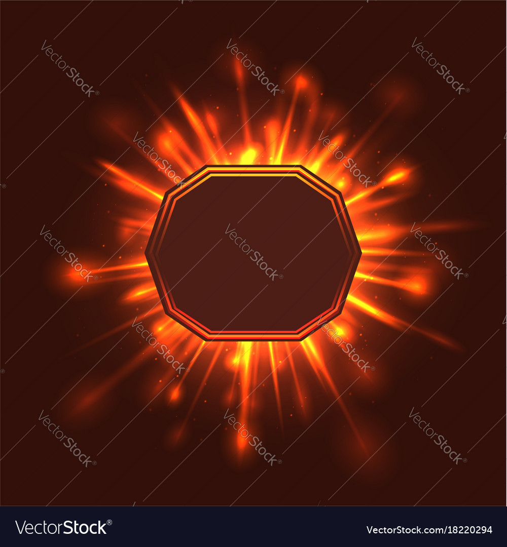 Card with rays of light with a place under the vector image