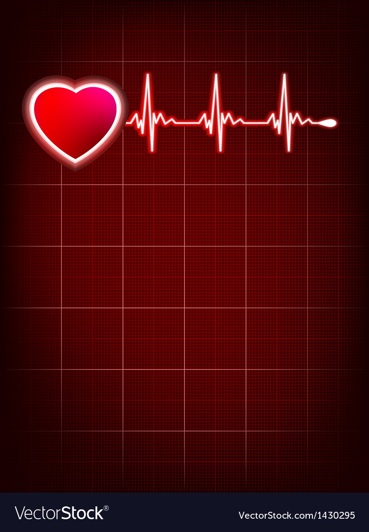 Heartbeat monitor electrocardiogram EPS 10 vector image