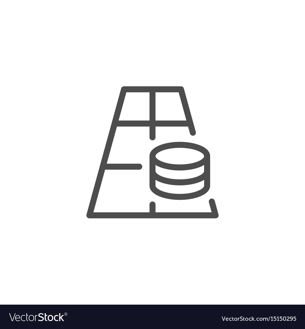 Betting line icon vector image