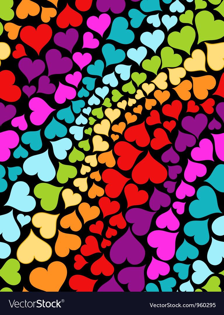 rainbow hearts royalty free vector image vectorstock