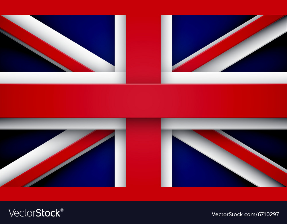 Union Jack with effects vector image
