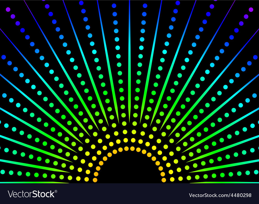 Dotted Rainbow Background vector image
