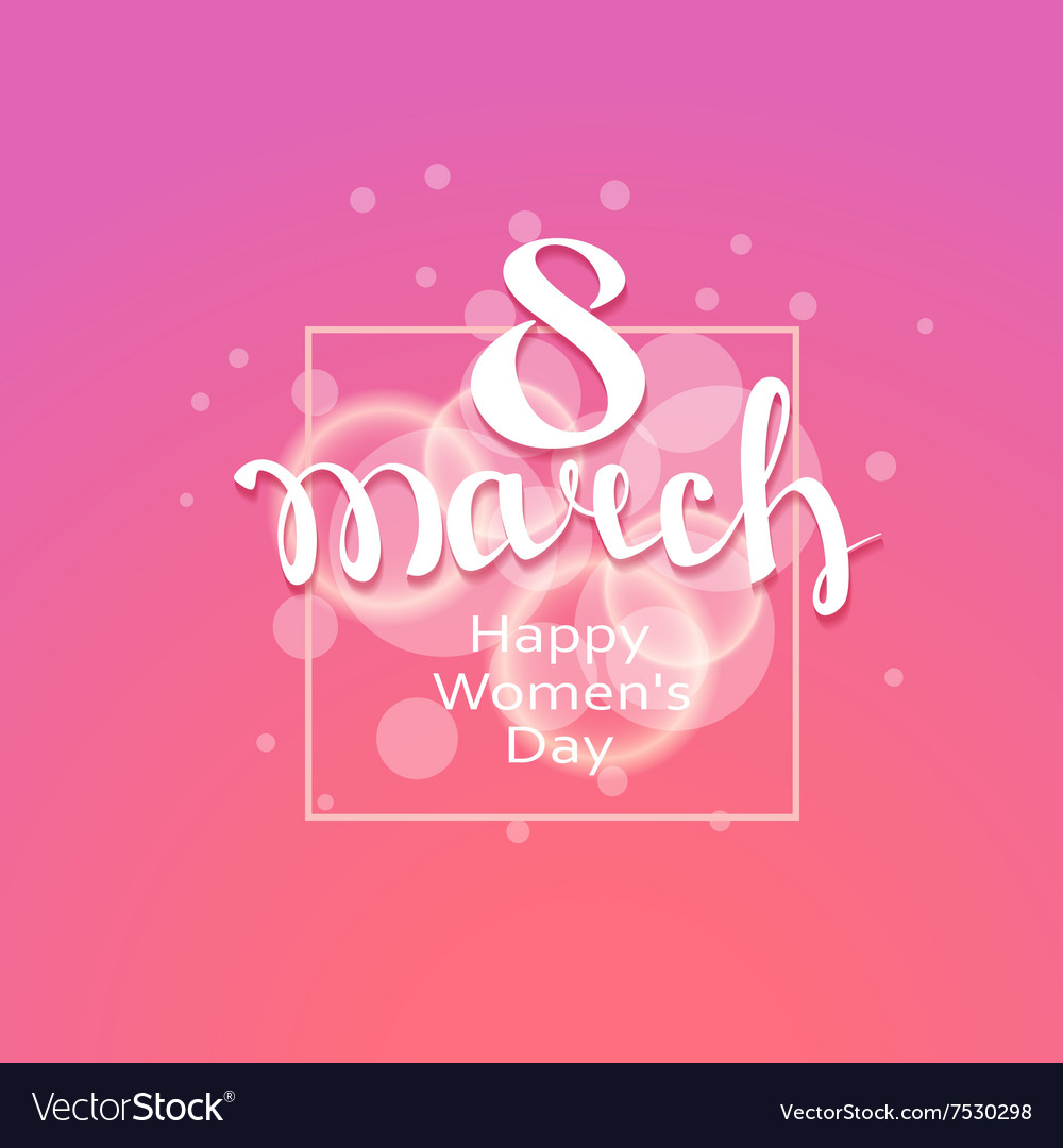 March 8 greeting card background template vector image kristyandbryce Choice Image