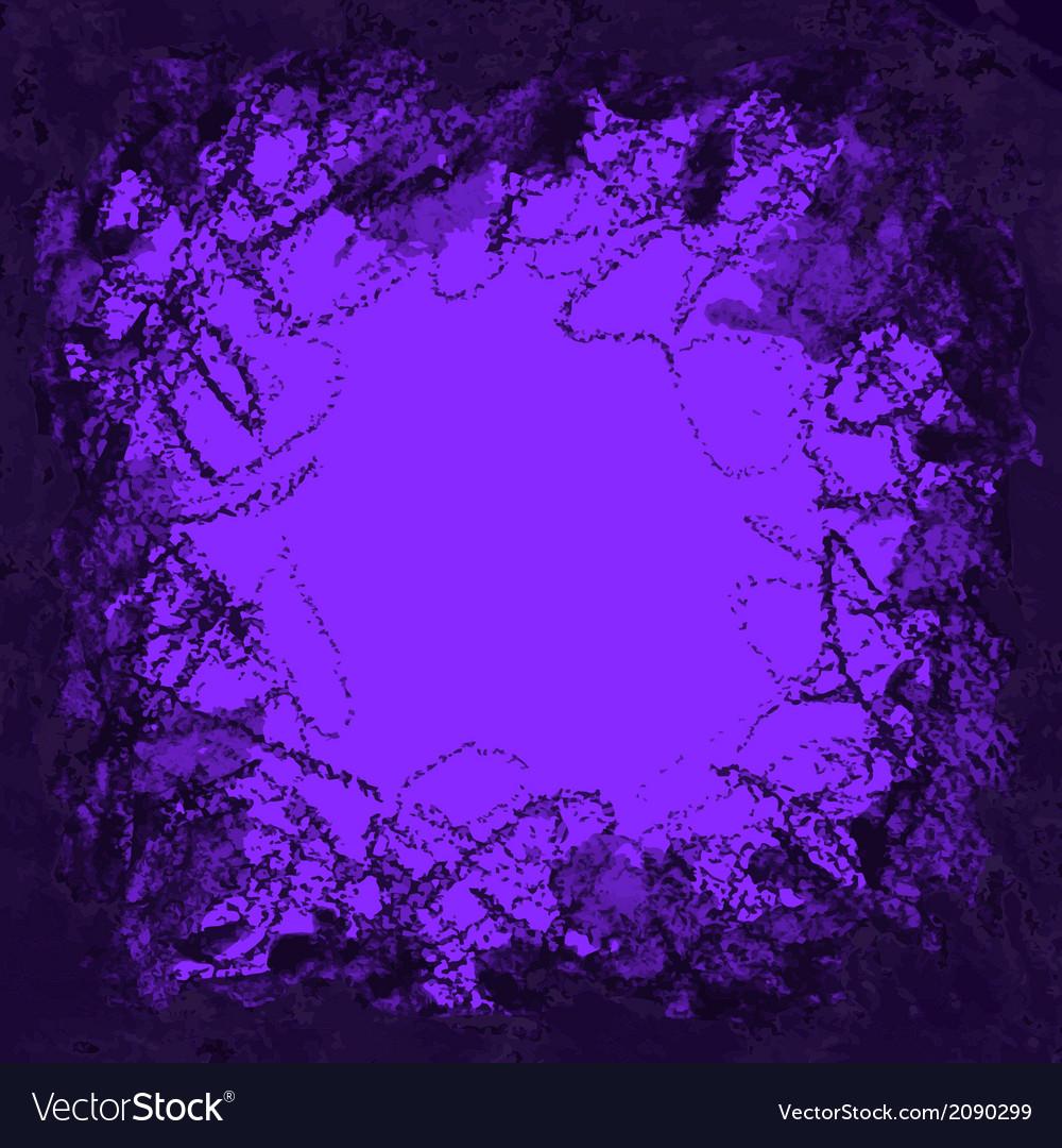 Violet Ink and Charcoal Grunge Background vector image