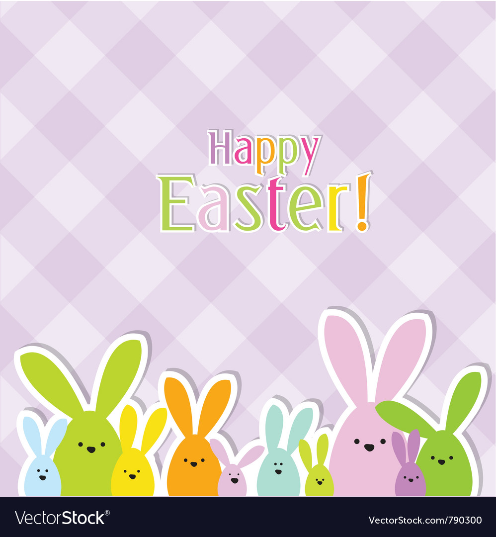 Easter card vector image