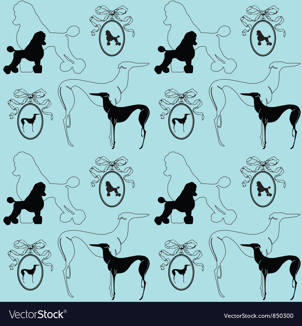 Dogs background vector image